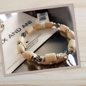 Alex and Ani Woodland Hush Blonde wrap bracelet